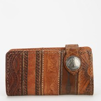 American Vintage Tooled Leather Long Wallet - Urban Outfitters