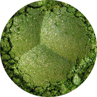 Green Eyeshadow mineral makeup Natural eye by pinkblossomcosmetics