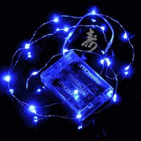 Blue Wire Waterproof Lights