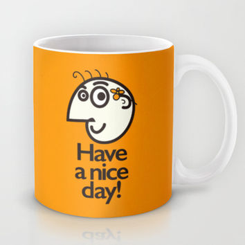 Have A Nice Day Happy Character Mug by Boriana Giormova
