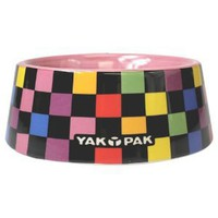Yak Pak Multi Checkerboard Dog Bowl, 5-Inch