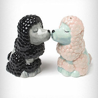 Kissing Poodles Salt/Pepper Shakers | PLASTICLAND
