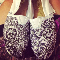 CUSTOM sharpie TOMS women&#x27;s abstract design brand by hannahgabr