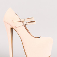 Shoe Republic Sommer Mary Jane Almond Toe Platform Pump