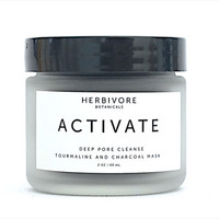 Activate Facial Mask. Tourmaline Gemstone Activated Charcoal Deep Pore Cleanse. All Natural. Oily /  Combination Skin.
