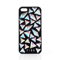 Victoria's Secret Pink Black Holographic Gem Case for Iphone 5/5s