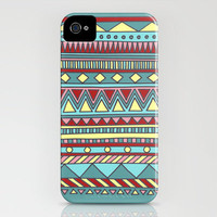 Tribal #4 (Aqua/Yellow/Red) iPhone Case by haleyivers | Society6