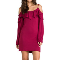 Dayna Dress in Burgundy