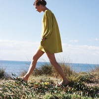 LINEN/COTTON BEACH DRESS | TOAST