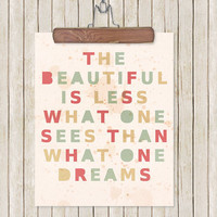 Inspirational Typography Wall Art Print Beautiful by LisaBarbero