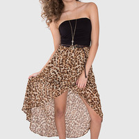 Prowl Print Hi Low Dress