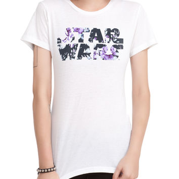 Star Wars Floral Logo Girls T-Shirt