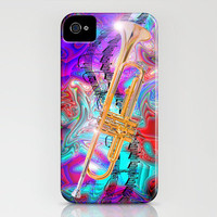 Psychedelic Trumpet iPhone Case by JT Digital Art  | Society6