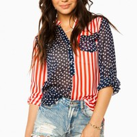 STARS AND STRIPES BLOUSE