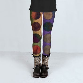MELANGE of Violet and Rust-L2 by PIA Schneider | atelier COLOUR-VISION (Leggings)