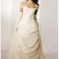 Buy Beautiful Elegant Exquisite Taffeta Wedding Dress In Great Handwork
