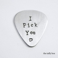 Stainless Steel Hand Stamped Guitar Pick | Luulla
