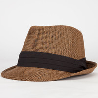 Straw Womens Fedora Brown One Size For Women 23561840001