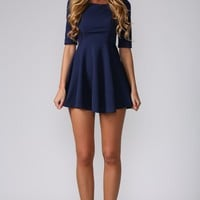 HelloMolly | Skater Dress Navy - Dresses