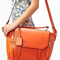Blair Messenger Bag - Orange in What&#x27;s New at Nasty Gal
