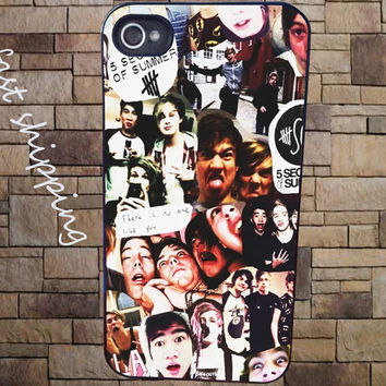 5 Second of Summer Collage Cover for iPhone 3Gs/4/4s/5/5s/5c, iPod 4/5/nano7, Samsung Galaxy s2/s3/s4/s5/note/ace2, HTC One/one X