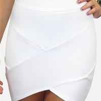Kiss Me Bandage Skirt White