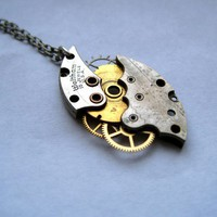 Clockwork Necklace Hurricane Not Quite by amechanicalmind on Etsy