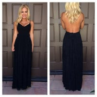 Evening in Paris Maxi Dress - BLACK