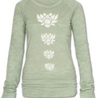 lotus fleece pullover