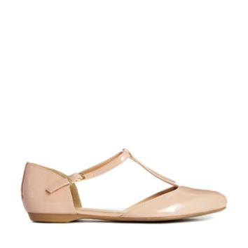 New Look Cream Jupiter T Bar Flat Shoes