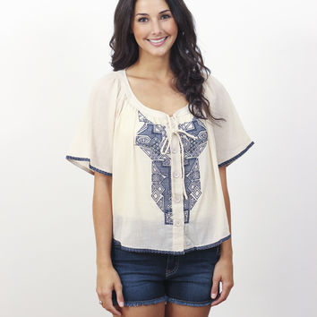 Embroidered Peasant Blouse » Vertage Clothing