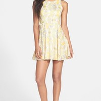 dee elle Print Skater Dress (Juniors)
