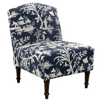 Clark Chair, Navy/White
