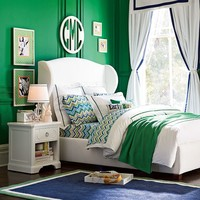 Pop Dot Duvet Cover + Sham, Classic Green