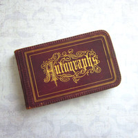 Antique Victorian Autograph Book