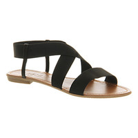 Office Highway Elastic Black - Sandals