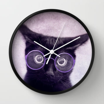 What!? (smart version) Wall Clock by SensualPatterns