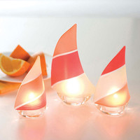 3-Pc. Sail Away Tea Light Holders