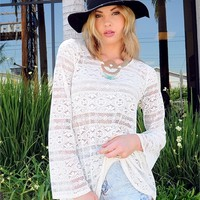 Boho Lace Trapeze Top