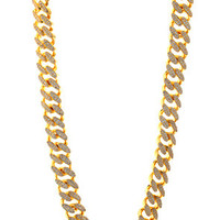 King Ice 14K Gold 15MM CZ Cuban Curb Chain