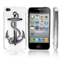 Transparent Snap-On Clear iPhone Cover Case for 4/4S iPhone - Anchor - Height:4.5 Inches X Width: 2.5 Inches X Thickness:0.5 Inches.personalized Design Is Available with a Minimum of 20 Pcs Orders.