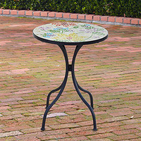Cadiz Mosaic Accent Table, Floral | Outdoor and Patio Furniture| Furniture | World Market