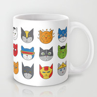 Super Cats Mug by Leo Canham