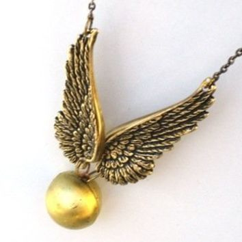 Steampunk Golden Snitch Locket Necklace Harry Potter A