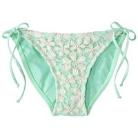 Xhilaration® Junior's Crochet Side Tie Swim Bottom -Mint