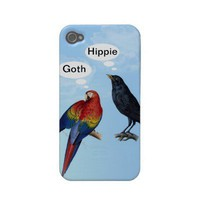 Goth Hippie Funny iphone 4 cases from Zazzle.com