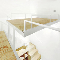 Split-Level Loft: Suspended Bedroom + Under-Stair Storage | Furniture Design