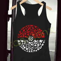 Tank Top,Pokemon logo character Black , Tank Top Men Women, Available Size : S,M,L,XL,XXL