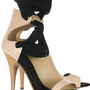 Vionnet|Leather and silk ribbon sandals|NET-A-PORTER.COM