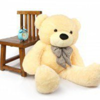 "46"" Cute Giant Cream Teddy Bear"
